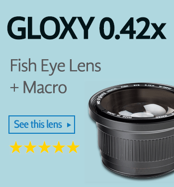 Gloxy 0.42x Fish Eye lens with macro